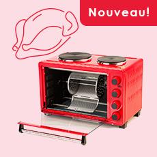 Four électrique avec plaques de cuisson OURSSON MO3030/RD, 30 L