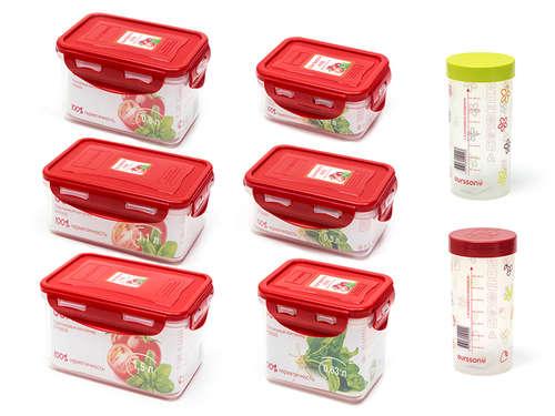 Casseroles pour stockage avec des clips OURSSON S8R6800/RD