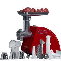 Hachoir viande électrique multifonction avec accessoires, Hachage de viandre, faire saucisses, kubbe et jus de tomate, MG5530/RD