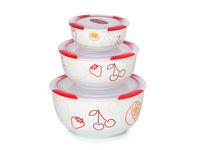 Set de bols en céramique Clip Fresh OURSSON BS2981RC, 3 pcs
